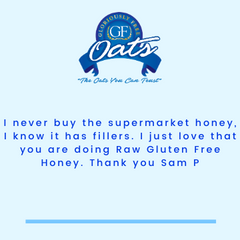 GF Oats Raw Honey 500g