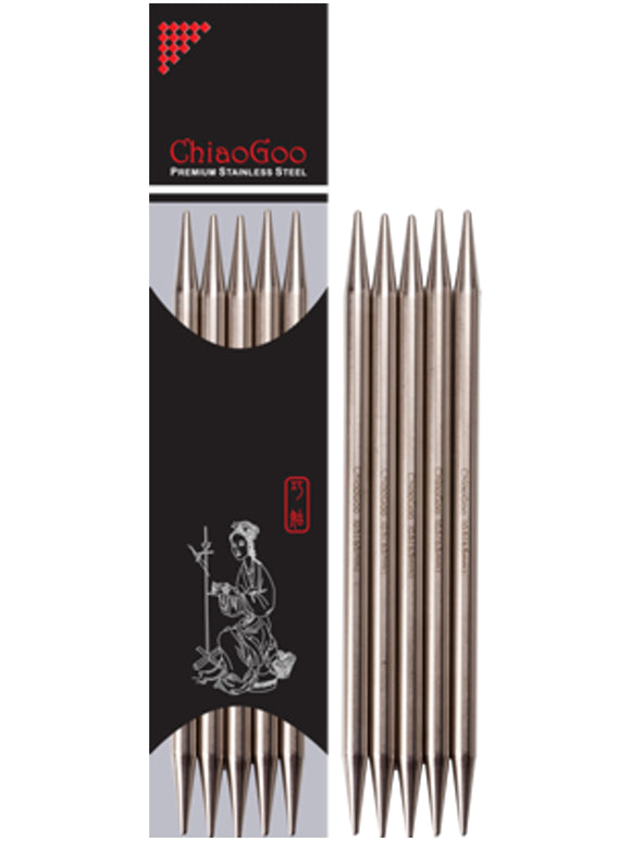 ChiaoGoo Stainless Steel Double Pointed Needles