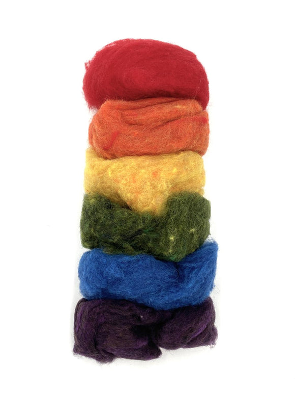 GoingGnome Wool Pack - Bright Rainbow Tones