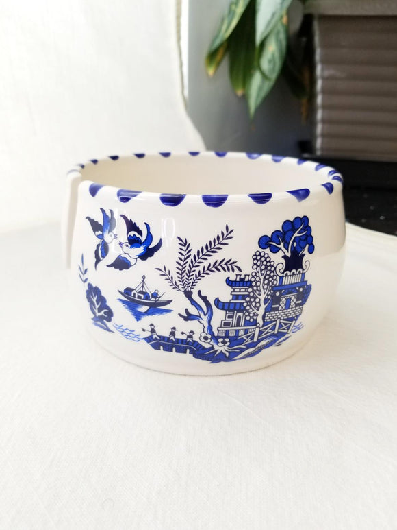 Lenny Mud Yarn Bowl -  Blue Willow Chinoiserie