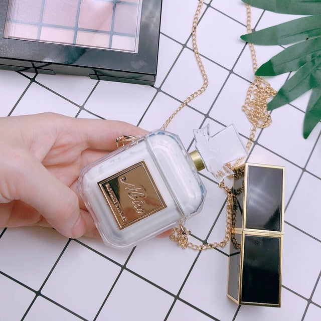 Luxury Perfume Bottle Airpods Case Cover