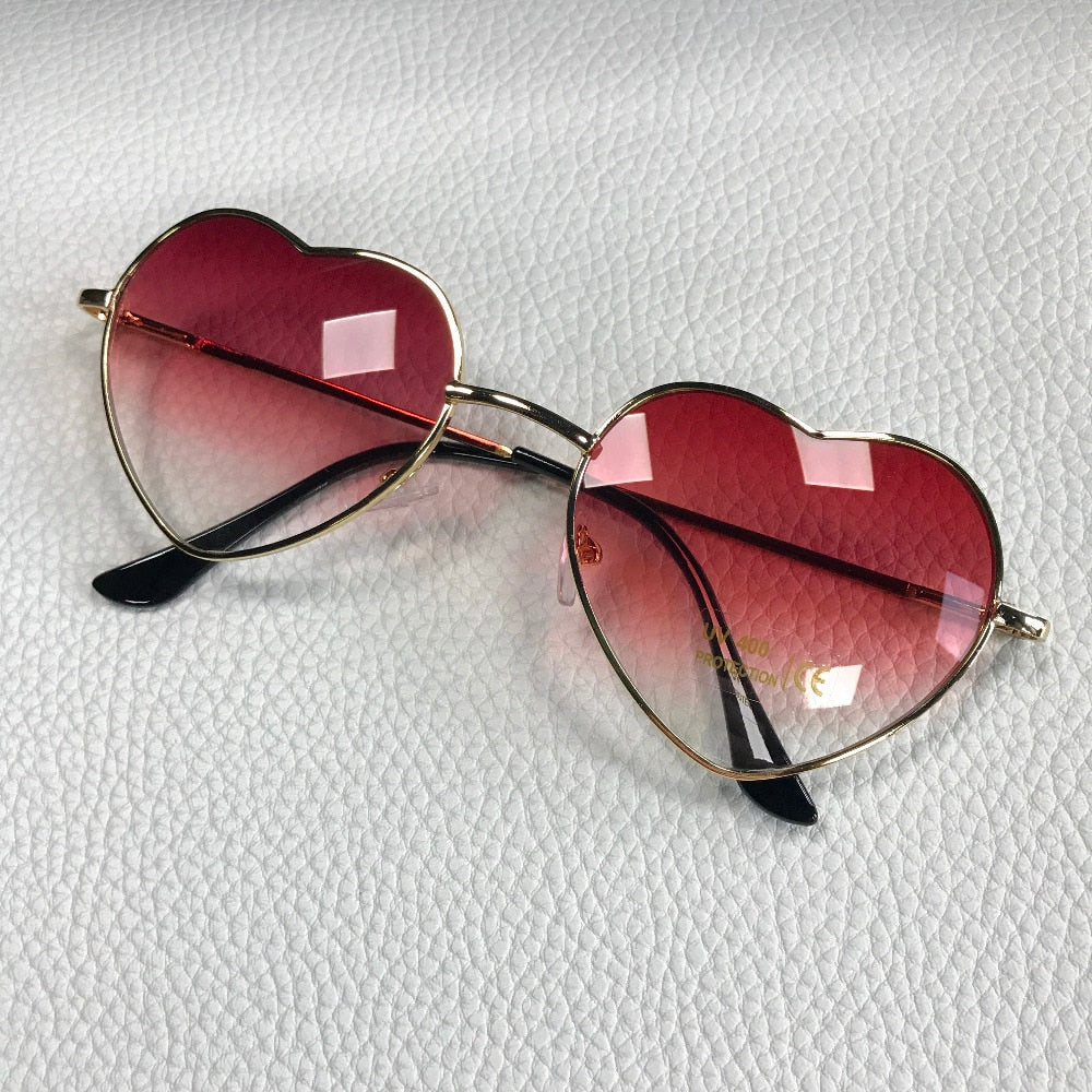 Cute Heart Gradient Sunglasses