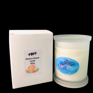 TAFF  Rainbow Sherbet  Candles NEW