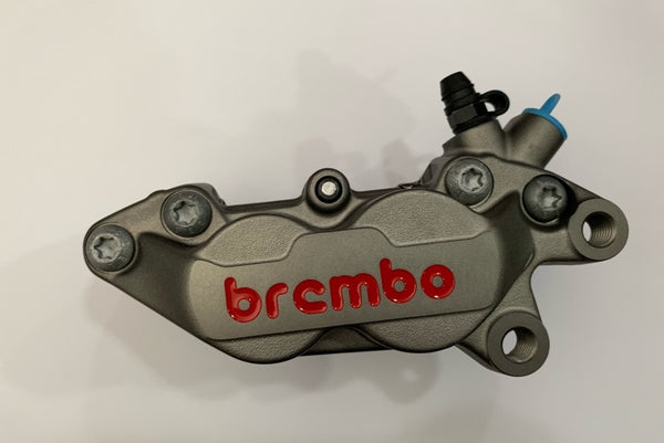 Brembo P4-30/34 Cast Caliper, color Titanium, Front Right, with pads 07BB1535, 40mm mounting
