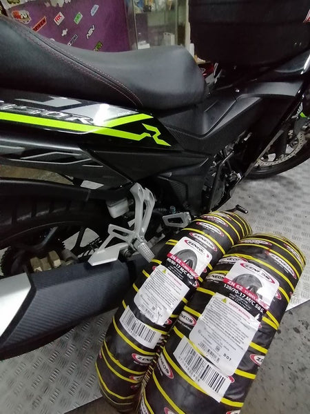 Zeneos tyres for honda rs150r GTR150