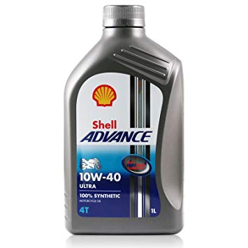 Shell Advance Ultra 10w40 Fully Synthetic 4T 10w40 x 2 bottles + oil filter $45