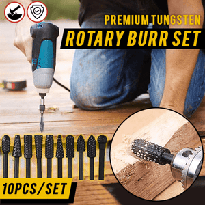 Premium Carbide Rotary Burr Bits (Set of 10)