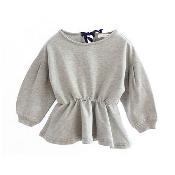 The Lily Bow Top (Heather Grey)