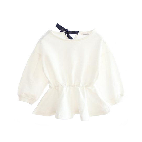 The Lily Bow Top (White)