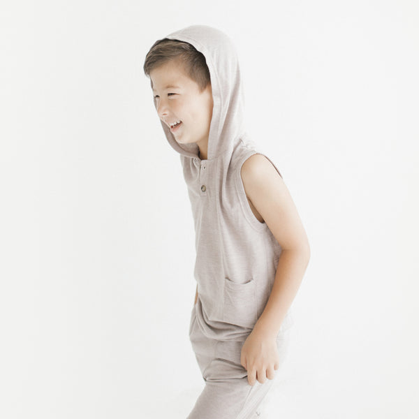 Warrior Sleeveless Hoodie (Sand)