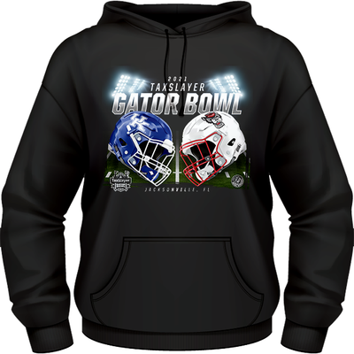 NC STATE WOLFPACK VS. KENTUCKY WILDCATS 2021 TAXSLAYER GATOR BOWL GAME HOODIE