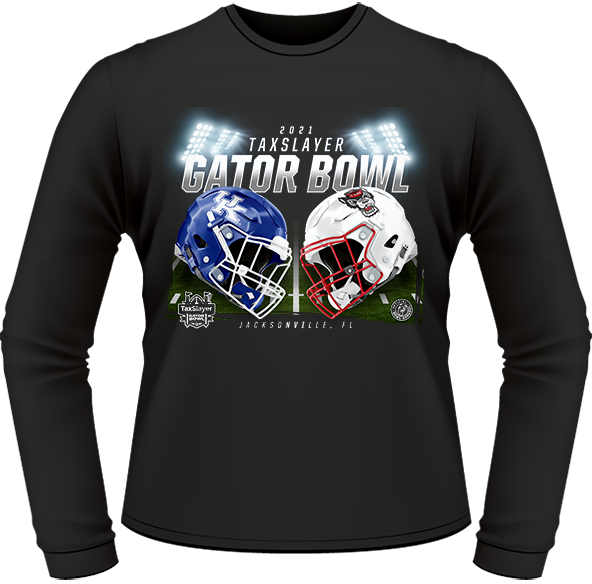 NC STATE WOLFPACK VS. KENTUCKY WILDCATS 2021 TAXSLAYER GATOR BOWL GAME LONG SLEEVE