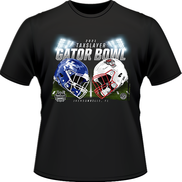 NC STATE WOLFPACK VS. KENTUCKY WILDCATS 2021 TAXSLAYER GATOR BOWL GAME TEE