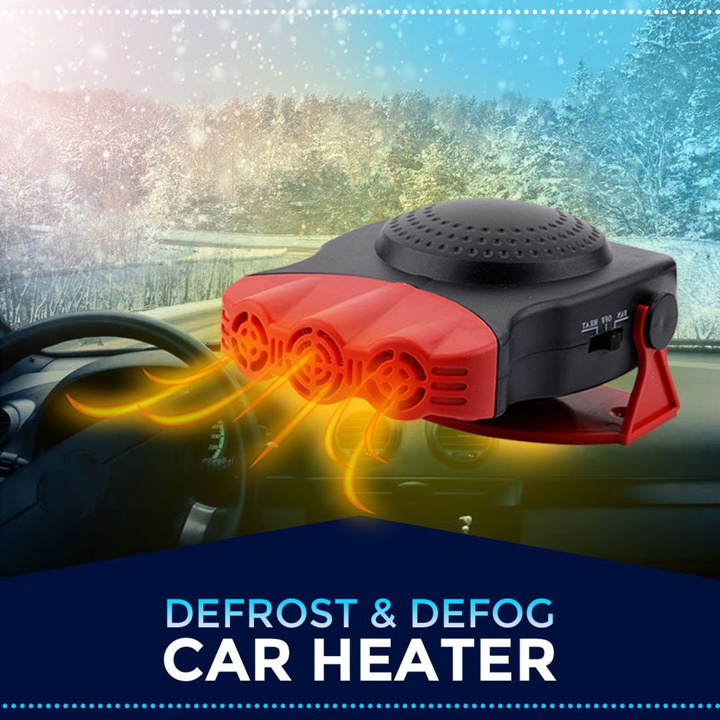 Car defrosting and defogging heater