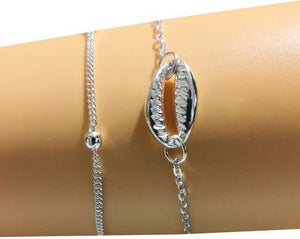 Alloy Plated Shell Bracelet Set Bracelet - Aura