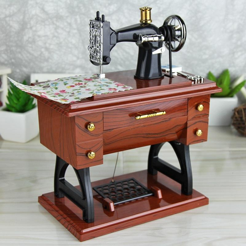 Best christmas gift-Mini Sewing Machine Music Box
