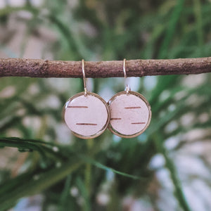 Minimalist birch bark drops