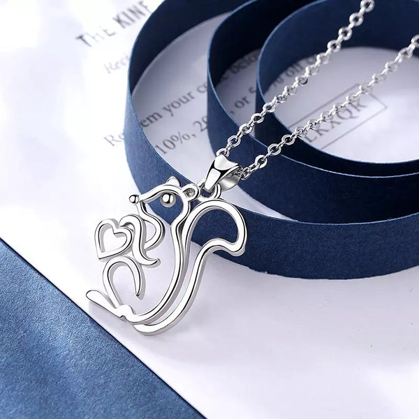 Eudora genuine 925 sterling silver squirrel pendant necklace