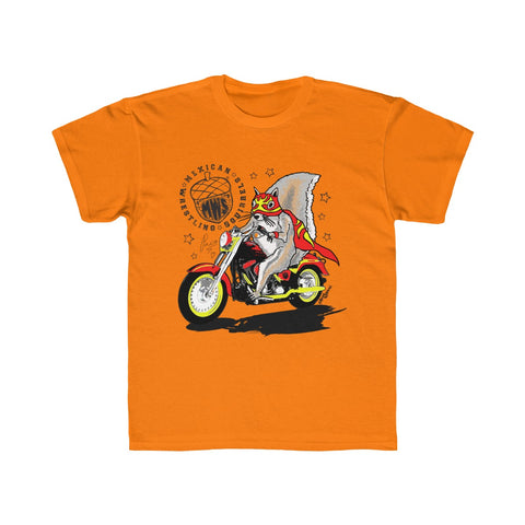 Paco Motorbike - Mexican Wrestling Squirrels - Kids Regular Fit Tee