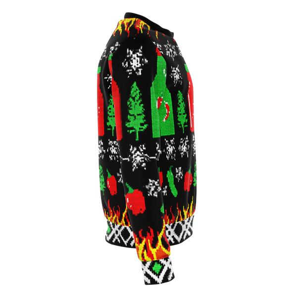 Hot Sauce Ugly Sweater - All over print