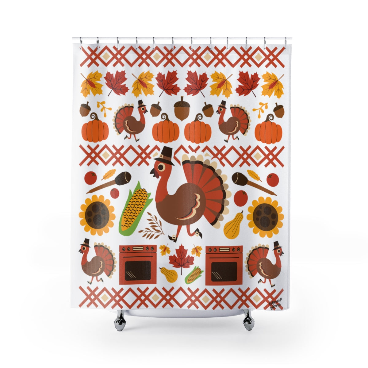 Thanksgiving Turkey Shower Curtain
