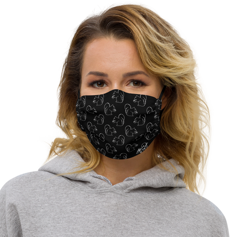 Squirrel Pattern - Premium face mask