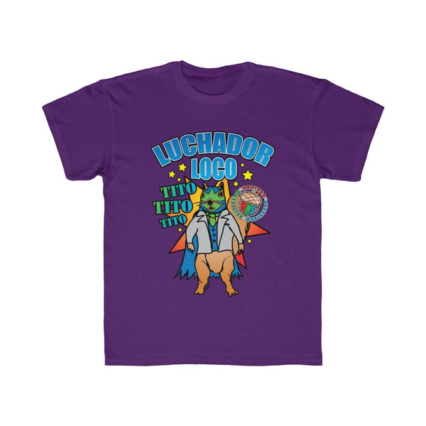 Tito Poster - Mexican Wrestling Squirrels - Kids Regular Fit Tee
