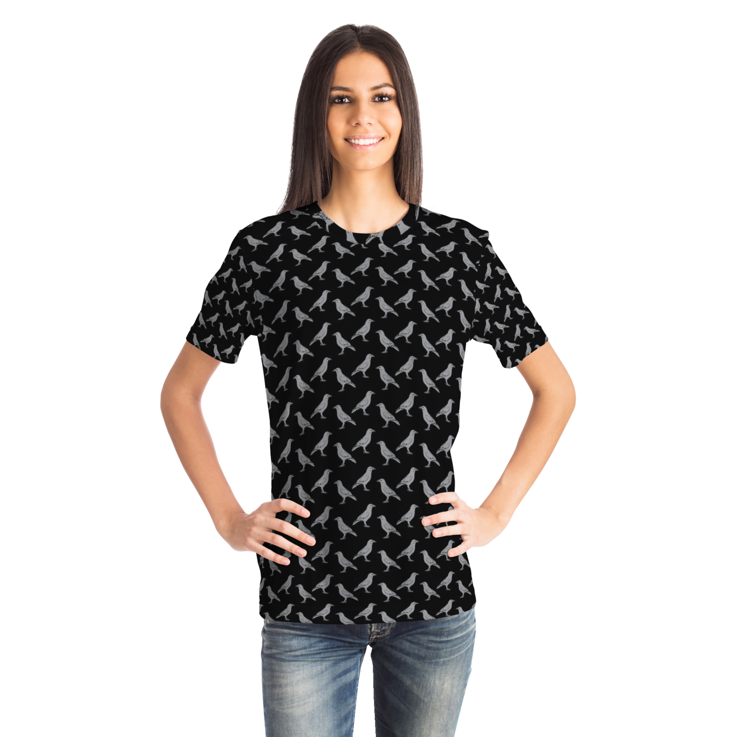 Raven Pattern - all over print tee