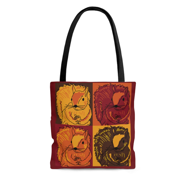 Autumn Pop Art Squirrels - Tote Bag