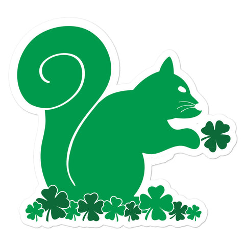St. Patty's - Irish Squirrel - Bubble-free sticker