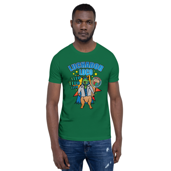 Tito Poster - Mexican Wrestling Squirrels - Short-Sleeve Unisex T-Shirt