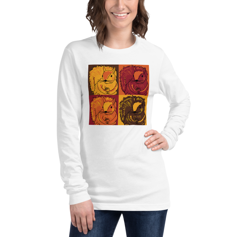 Autumn Pop Art Squirrels - Unisex Long Sleeve Tee