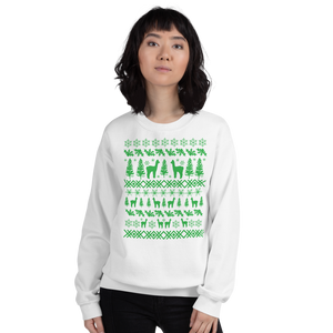 Alpacas (green ink) - Unisex Sweatshirt