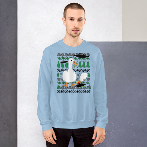 Christmas Duck vs. Aliens - Unisex Sweatshirt