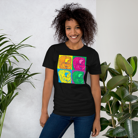 Pop Art Squirrels - Warhol Style - Short-Sleeve Unisex T-Shirt