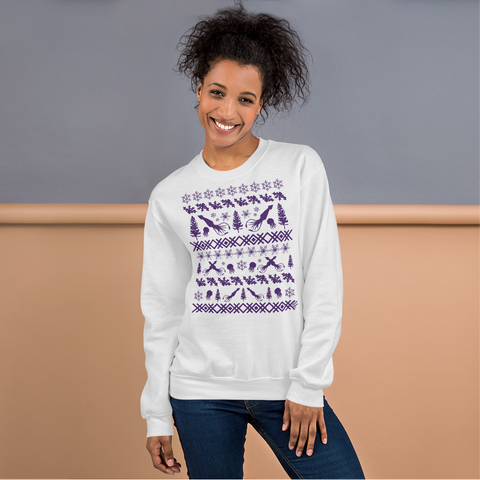 Squid (purple ink) - Unisex Sweatshirt