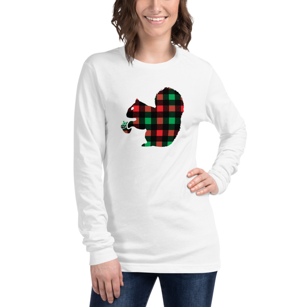 Plaid Squirrel - Unisex Long Sleeve Tee