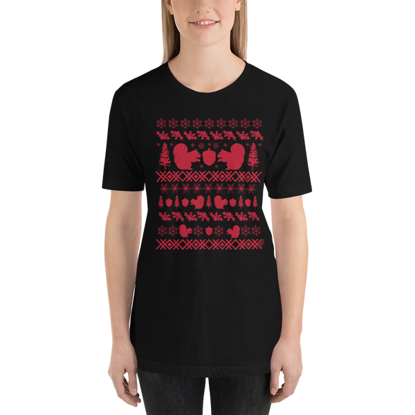 Squirrel (red ink) - Premium Short-Sleeve Unisex T-Shirt