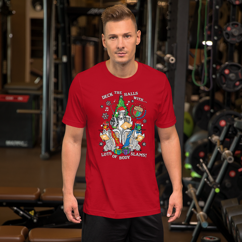 Mexican Wrestling Squirrels Holiday - Short-Sleeve Unisex T-Shirt