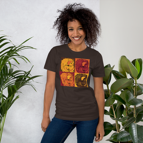 Autumn Pop Art Squirrels - Short-Sleeve Unisex T-Shirt