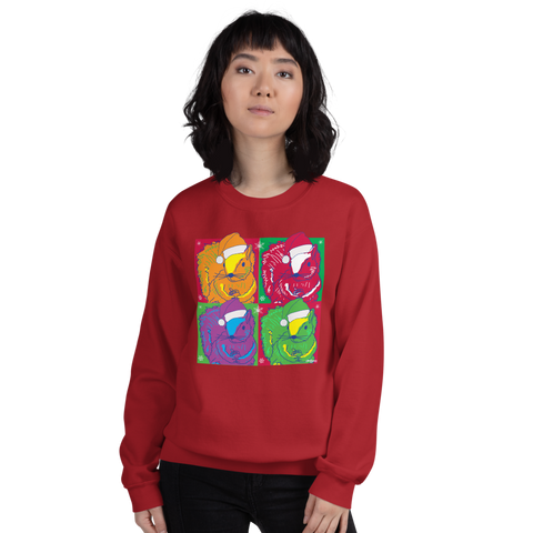 Christmas Pop Art Squirrels - Unisex Sweatshirt