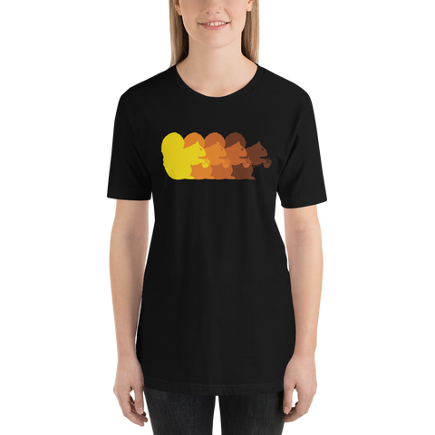 Retro Squirrels - Short-Sleeve Unisex T-Shirt