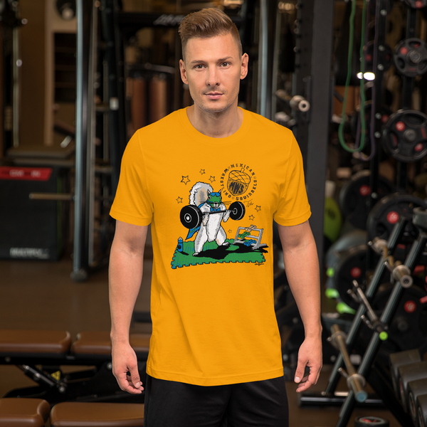 Tito Lifting Weights - Mexican Wrestling Squirrels - Short-Sleeve Unisex T-Shirt