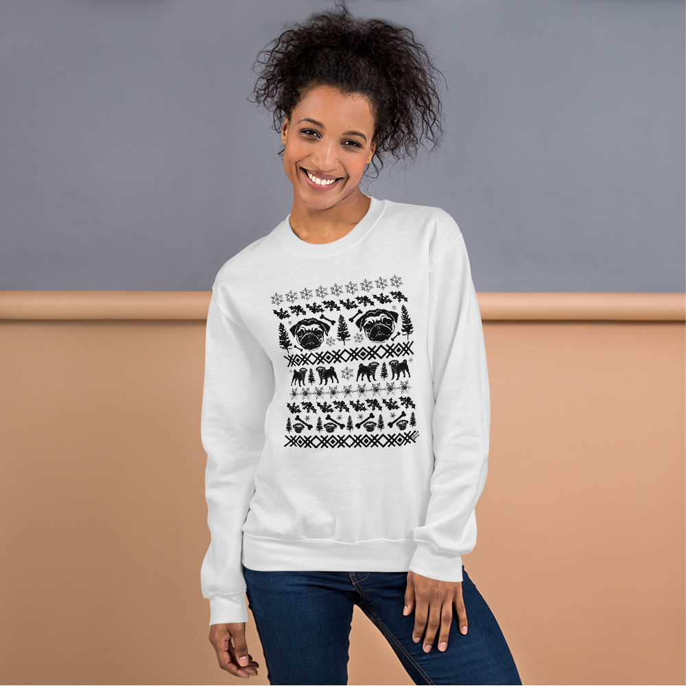 Pugs (black ink) - Unisex Sweatshirt