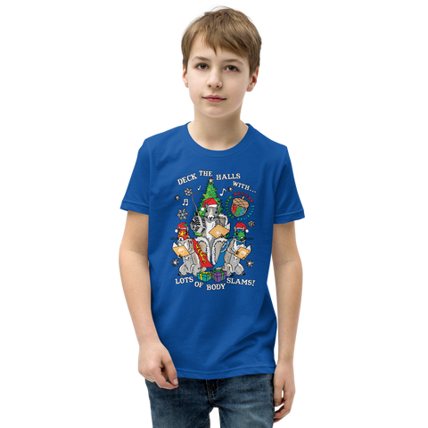Mexican Wrestling Squirrels Holiday  - Youth Short Sleeve T-Shirt
