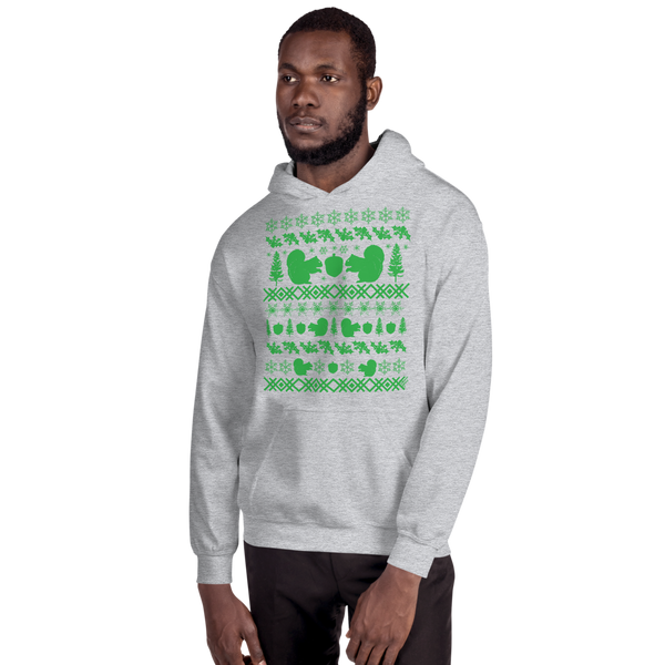 Squirrel (green ink) - Unisex Hoodie