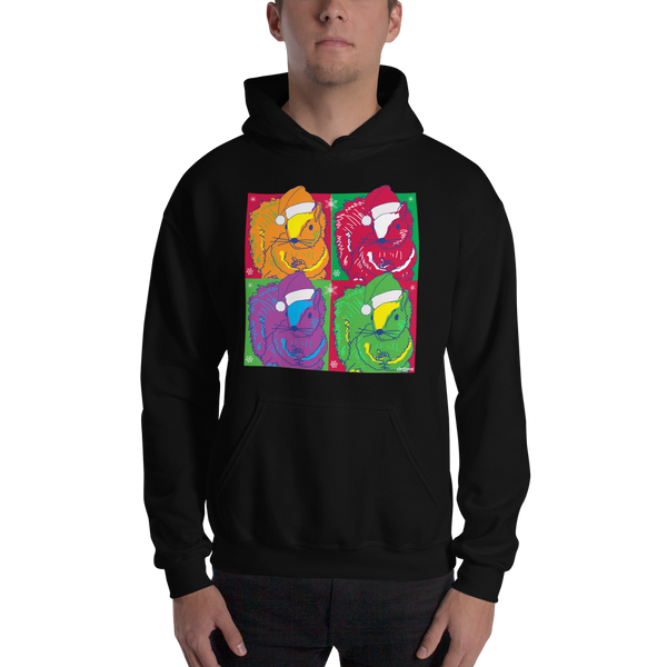 Christmas Pop Art Squirrels - Unisex Hoodie