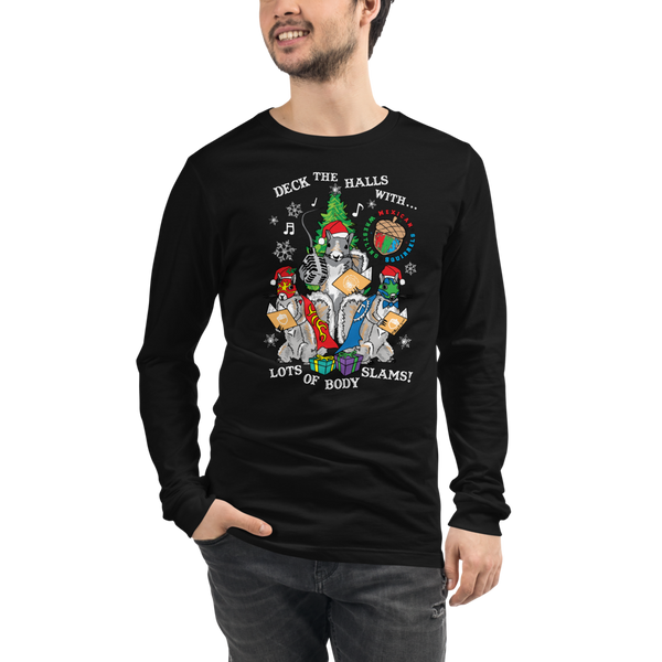 Mexican Wrestling Squirrels Holiday - Unisex Long Sleeve Tee