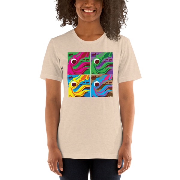 Pop Art Squids - Short-Sleeve Unisex T-Shirt