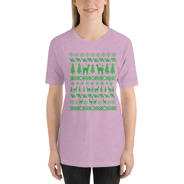 Alpacas (green ink) - Premium Short-Sleeve Unisex T-Shirt